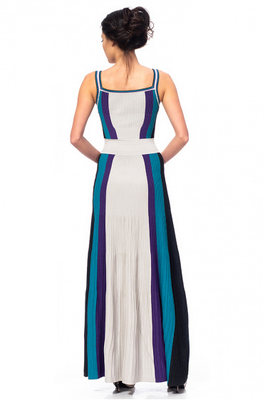Ladies long dress with straps