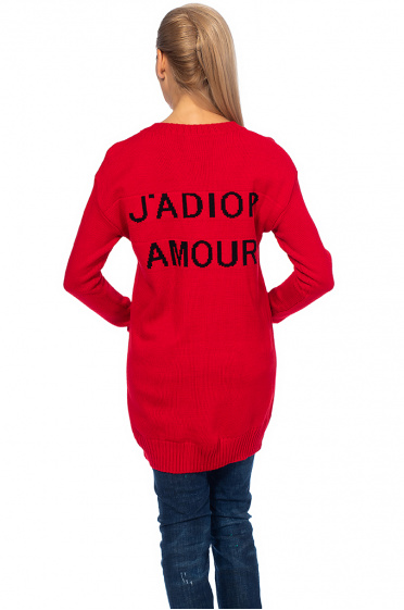 Ladies sweater with caption