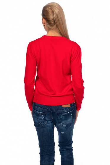 Ladies sweater with appliqué