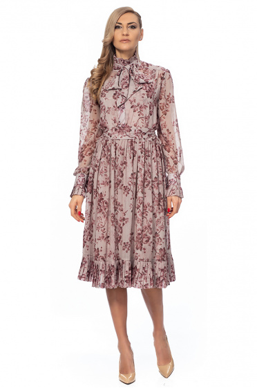 Ladies dress with floral motif