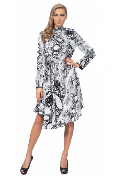Ladies dress with a print python