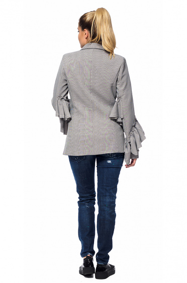 Women's jacket with ruffles