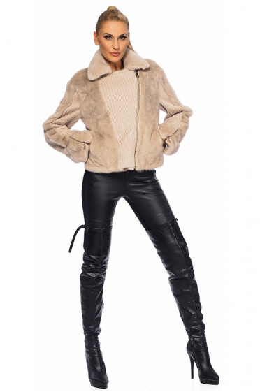 Women's fur coat mink