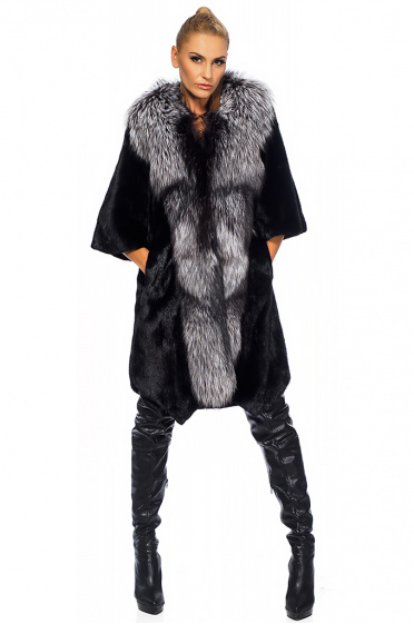 Ladies fur coat of mink