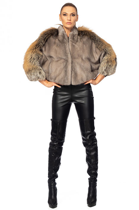 Ladies leather coat vest