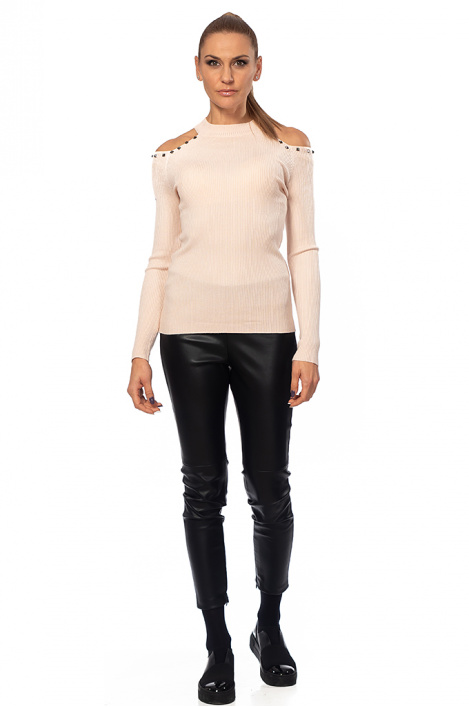 Ladies sweater with bare shoulders