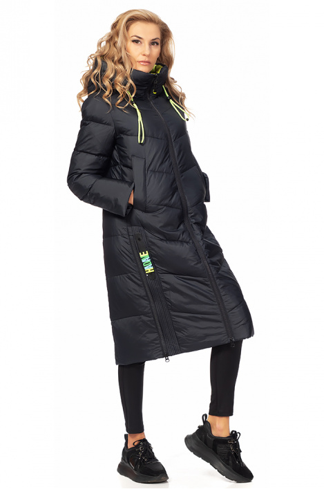 Ladies lonng jacket with hood
